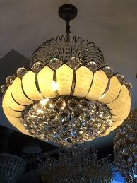Asfour Crystal Chandelier Klaudia Of Paris 10l Lotus Flower Capiz Shells Asfour Crystal