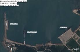 China Google Maps by Asian Defence News Jianggezhuang Submarine Base Plan North Sea