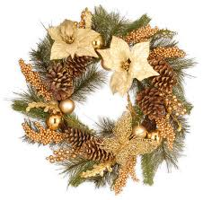 24 gold poinsettia wreath with butterflies rustic wreaths and