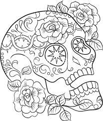 printable coloring pages sugar skulls sugar skull coloring pages free printable sugar skull coloring pages