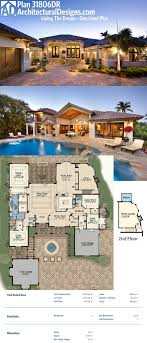 plan 31822dn four second floor balconies luxury houses plan 31806dn living the dream one level plus architectural