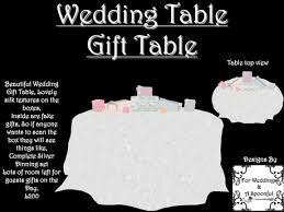 wedding gift table second marketplace wedding table gift table with gifts