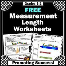free measuring length measurement worksheets 2nd grade math