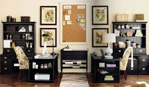 Black Home Office Furniture Tidy Home Office Design For Two Black Painted Wood Office Desks