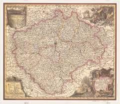 Map Of Czech Republic 1758 Map Of Bohemia Part Of Czech Republic Czechia 5000 4355