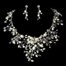 pearl crystal wedding necklace images Bridal necklace sets wedding crystal bella jpg