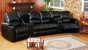 Home Theater Sectional Sofas 6 5040 Home Theater Leather Sectional Sofa By Acme