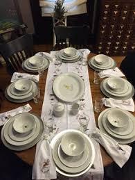 pottery barn reindeer dinner plates set of 8 pottery