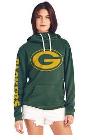 green bay packers halloween costumes green bay packers women u0027s cowl neck hooded sweatshirt