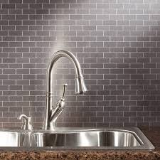 metal kitchen backsplash tiles kitchen u shape kitchen decoration using silver metal backsplash