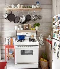 small space decorating ideas from a california cabin pot rack