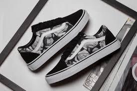 white roses for sale 2017 vans skool black white roses low skate shoes for sale