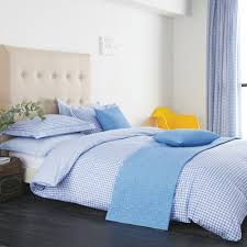 v u0026a ikat gingham blue duvet cover set from palmers department