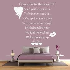 hot n cold wall sticker katy perry wall art
