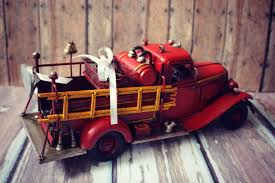 ring bearer fire fighter fireman ring holder fire truck wedding
