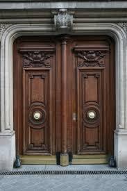 Modern Wood Door Furniture Artistic Brown Teak Wood Front Door With Classic
