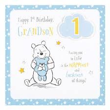 winnie the pooh grandson 1st birthday card disney gift ebay