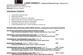 Sample Basketball Coach Resume by Myfootballresumecom Football Resume U0026 College Football Soccer