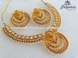 gold jewellery necklace sets images Bollywood ramleela style necklace set indian gold plated jpg
