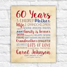 birthday gift for 60th birthday 60 years gift for
