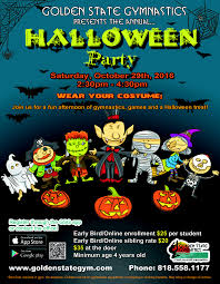 gsg halloween party saturday october 29th at 2 30 p m golden