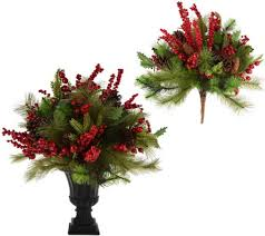 choice of berry pine urn filler or arrangement in urn by valerie