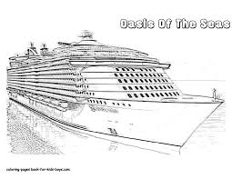 cruise ship coloring page free download