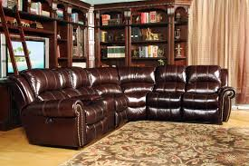 Top Grain Leather Sectional Sofa Parker Living Poseidon Dark Brown Top Grain Leather Sectional Sofa