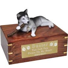 dog cremation wholesale pet cremation wood urns husky with stick