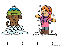 day 9 fun in the snow 2 piece number puzzles for toddlers