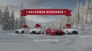 lexus christmas 2016 lexus december to remember sales event decembertoremember