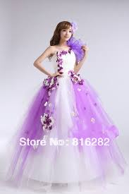 coloured wedding dresses colourful gown floor length lace up handmade flower organza