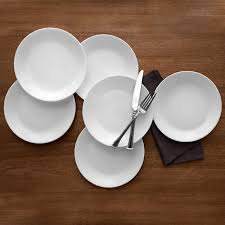 Corelle Livingware 16 Piece Dinnerware Set Winter Frost White Amazon Com Corelle Winter Frost 6 Pack Lunch Plates White 8 5
