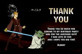 wars thank you cards the clone wars invitations general prints
