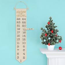 countdown advent calendar hanging fabric canvas banner