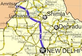 New Delhi India Map by National Highway 1 India Old Numbering Wikipedia