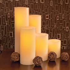 wax led flameless candle 12 in battery operated candles