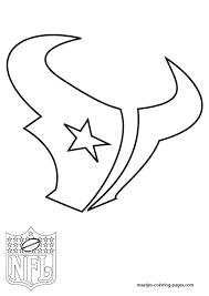 nfl team coloring pages free template stencil houston texans nfl templates pinterest