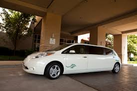 nissan leaf zero emission leaf limo stretches zero emission ride