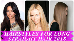 beautiful hairstyles for straight long hair for women youtube