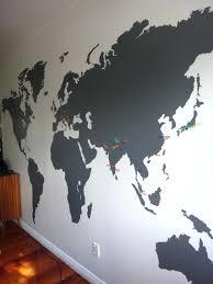 World Map Wall Decor Kids World Map Wall Decal Colorful World Map Wall Sticker Decal