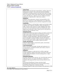 Resume Sample For Hr Manager by Hr Or Admin Manager Resume