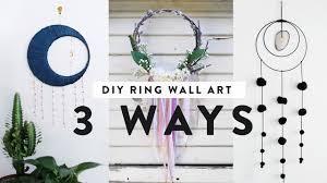 diy ring wall decor three ways ft ann le youtube
