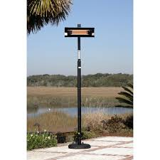 Infrared Patio Heaters Electric by Pole Mounted Electric Infrared Patio Heater With Pvc Cover Black