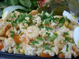 cuisine salade de riz salade de riz et crevettes choumicha cuisine marocaine