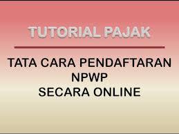 petunjuk membuat npwp online pendaftaran npwp secara online youtube