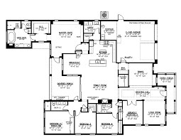 Bedroom Floor Plans Ranch Style House Plan  Beds  Baths - 5 bedroom house floor plans