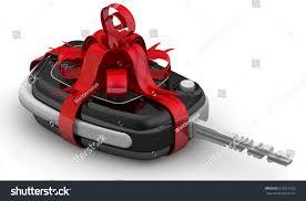 car gift bow car gift car key stock illustration 623511032