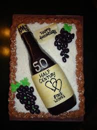 Anniversary Wine Bottles Cat U0027s Cake Creations Wine Bottle Golden Anniversary Cake