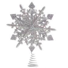 tree toppers for christmas trees white iridescent sparkling snowflake tree topper christmas trees